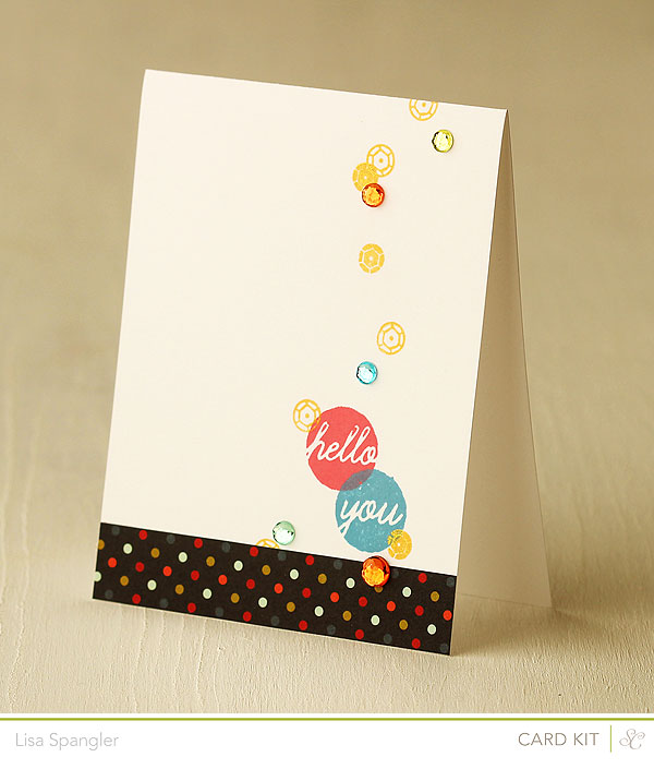 Sequin stamps in the June Studio Calico main card kit by Lisa Spangler
