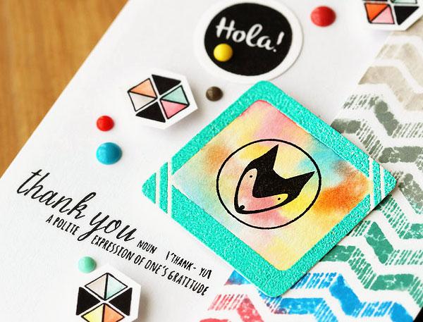 Sneak peek of Lisa Spangler's Studio Calico Inked class card!