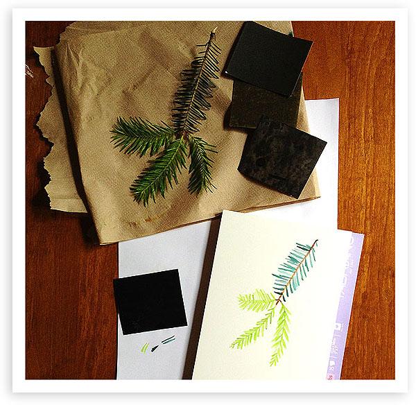 Balsam fir sketch by Lisa Spangler