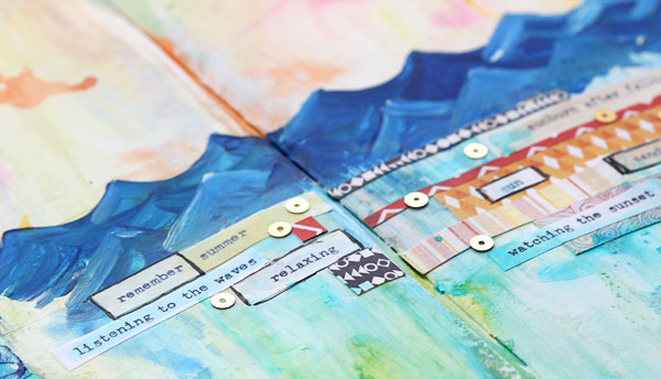 Art journaling by Lisa Spangler