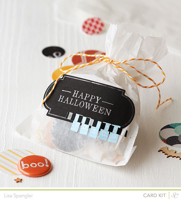 Happy Halloween treat bag by Lisa Spangler for Studio Calico