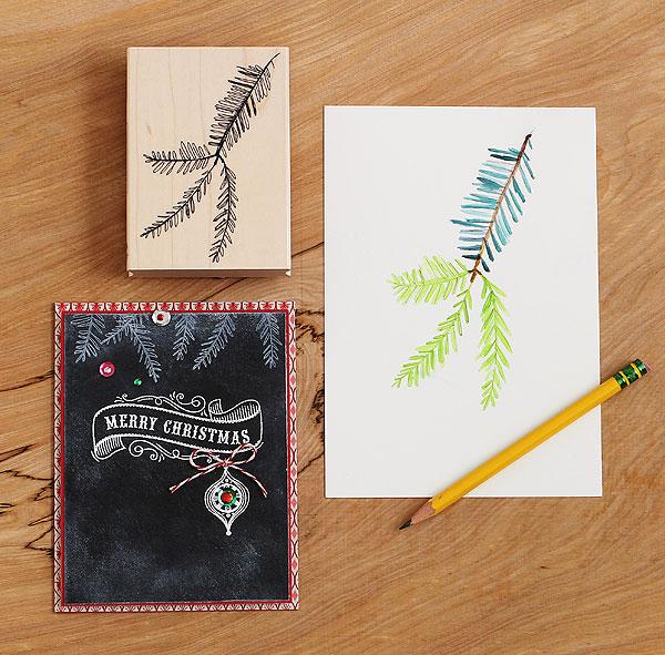 Lisa's Pen & Ink Fir by Lisa Spangler for Hero Arts