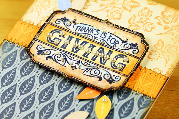 Thanks is for Giving by Lisa Spangler for Hero Arts using BasicGrey Persimmon collection