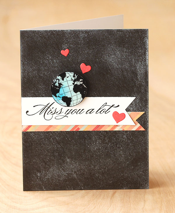 Miss You by Lisa Spangler using OWH stamps