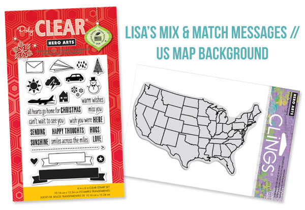 Lisa's Mix & Match Messages (CL727) // US Map Background (CG624)