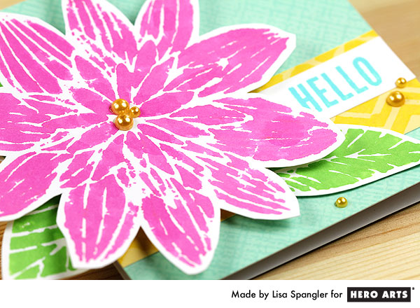 Well hello, new Hero Arts Ultra Pink dauber and Night Flower Stencil by Lisa Spangler