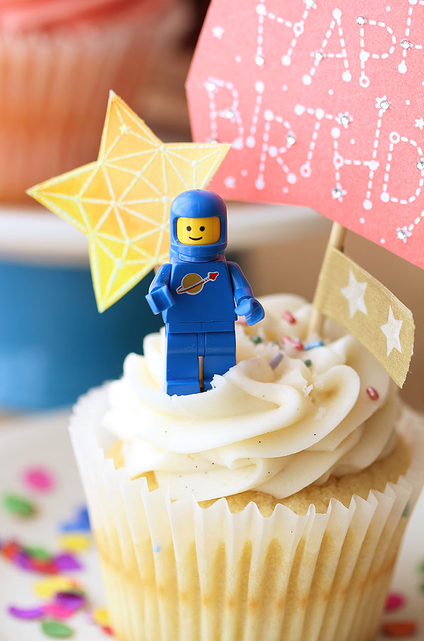 Constellation Cupcake toppers by Lisa Spangler for Hero Arts