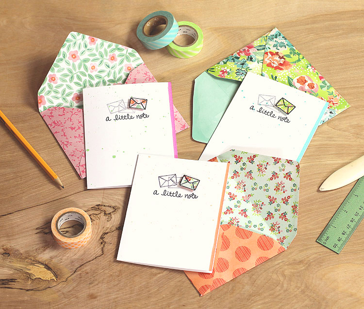 Neat & Tangled stationery set by Lisa Spangler