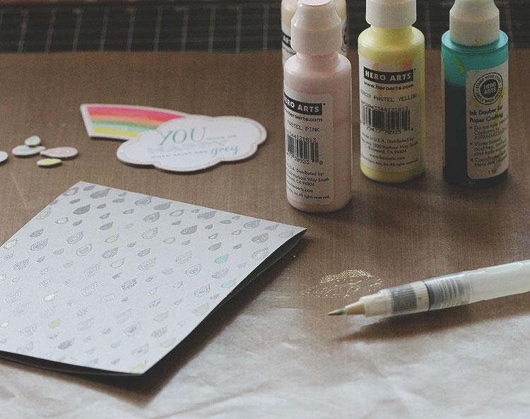 coloring rain drops by Lisa Spangler