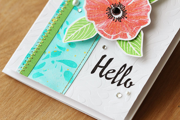 Use a stencil for embossing! by Lisa Spangler
