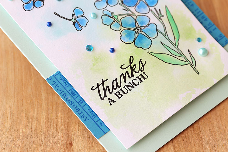 Watercolored Night & Day Flowers by Lisa Spangler