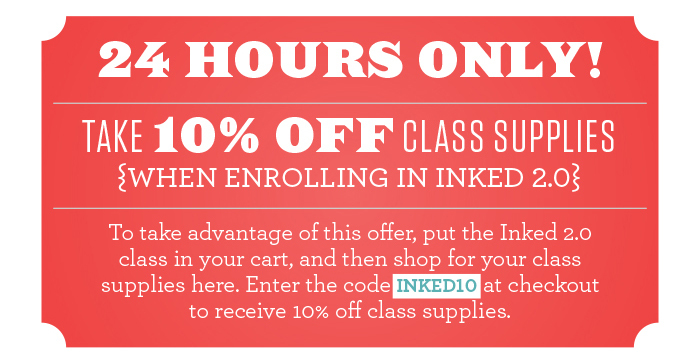 Inked 2.0 special offer!