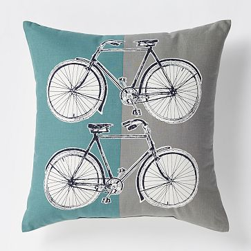 West Elm Bike Pillow