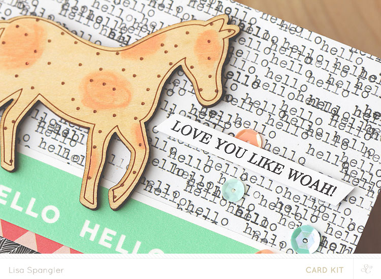 Love you like whoa by Lisa Spangler for Studio Calico