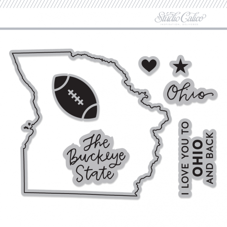 Studio Calico // I love Ohio stamp set
