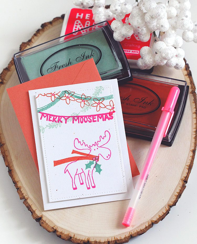 Merry Moosemas by Lisa Spangler
