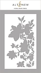 Floral Drape Stencil