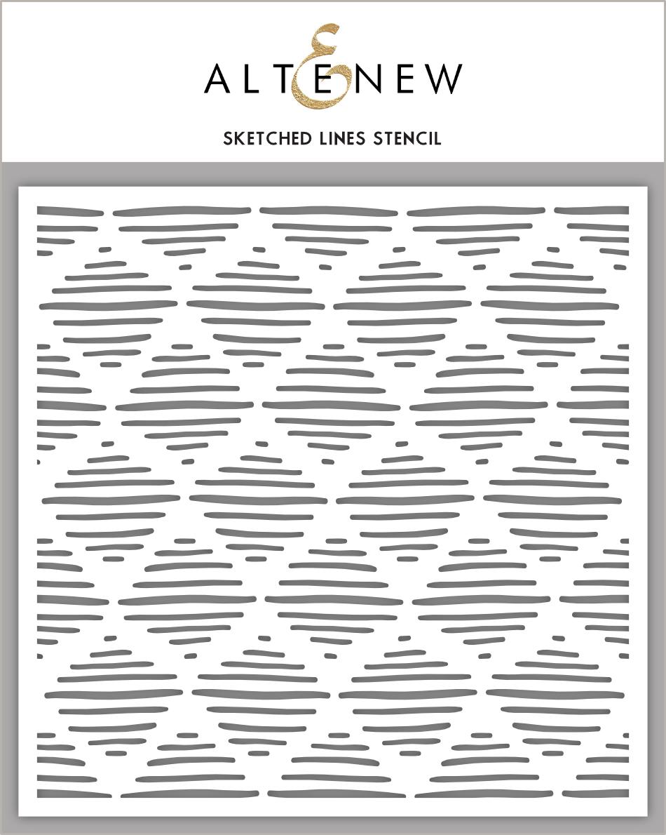 Sketched Lines Stencil
