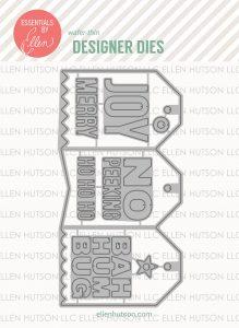 Essentials by Ellen Designer Dies, Concertina Tags by Julie Ebersole