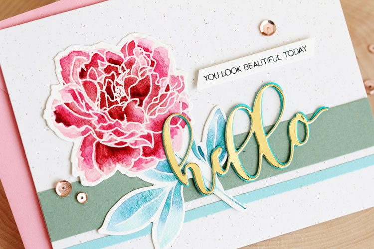Hello by Lisa Spangler for Altenew