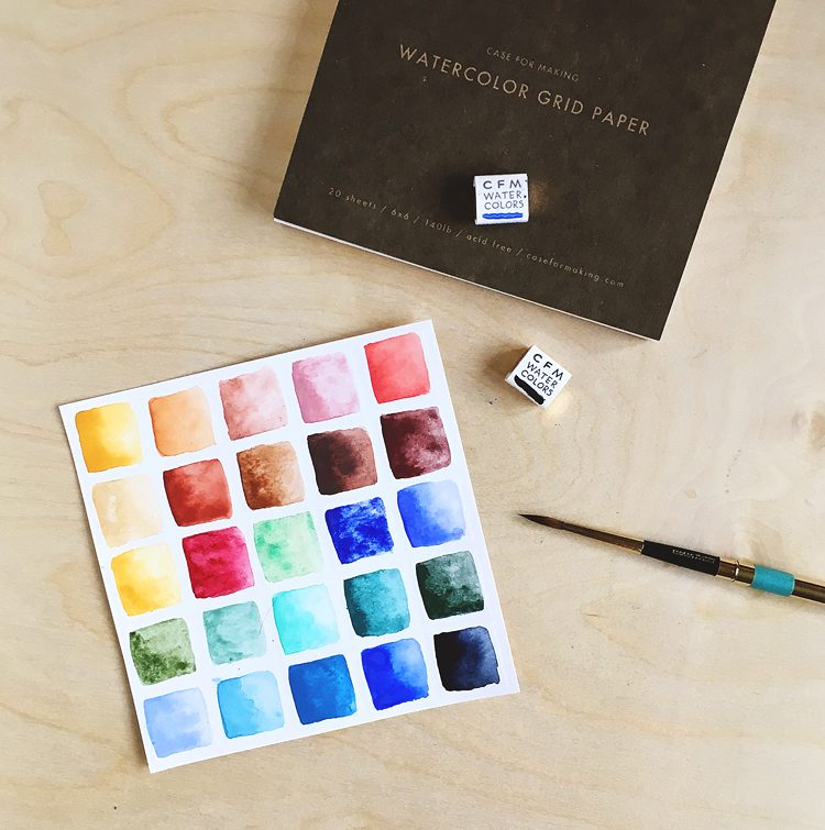 Case For Making handmade watercolor swatches