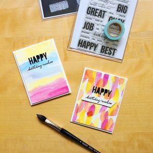 Quick Summer Birthday Cards